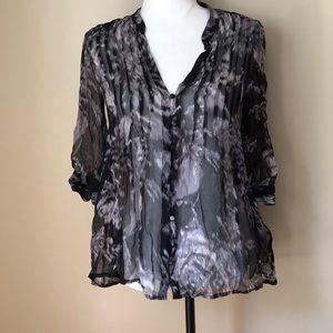 Joie Marble Mesa 100% Silk Blouse